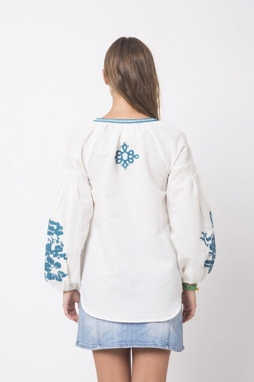 Gobelin Peru Style linen Shirt by Galliba