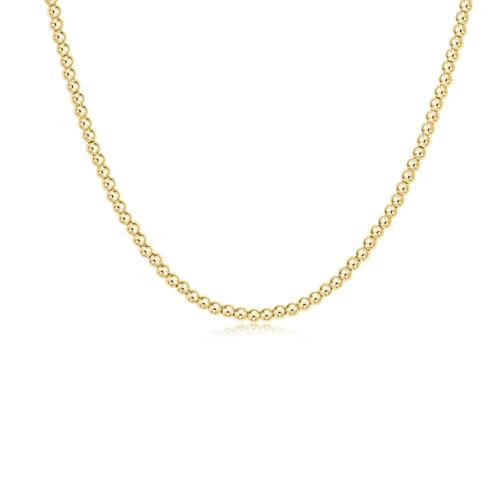 14K Gold Filled Gold Bead Ball Necklace
