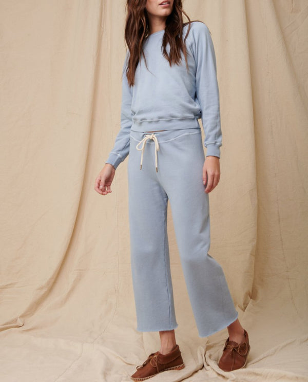 The Wide Leg Cropped Sweatpants by The Great