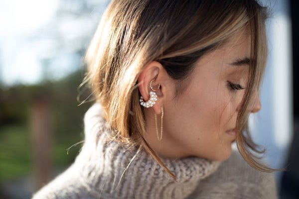 Pearl Ear Cuff by Menagerie