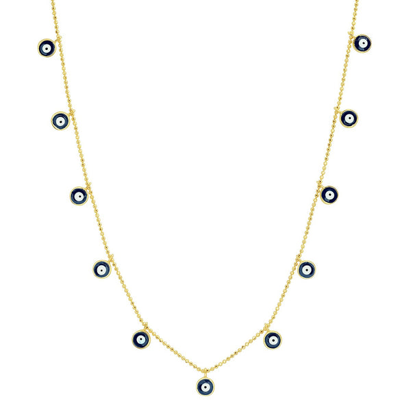 Evil Eye Dangles Necklace