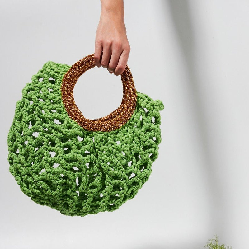 Ionic Crochet Knit Handbag by Stella Pardo