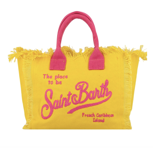 Saint Barth Embroidery Canvas Tote Bag
