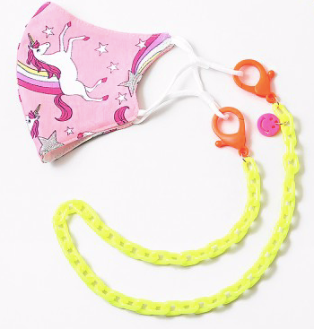 Smiley Face Kids Mask Chain