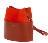 Sac Seau Leather Adjustable Bucket Bag