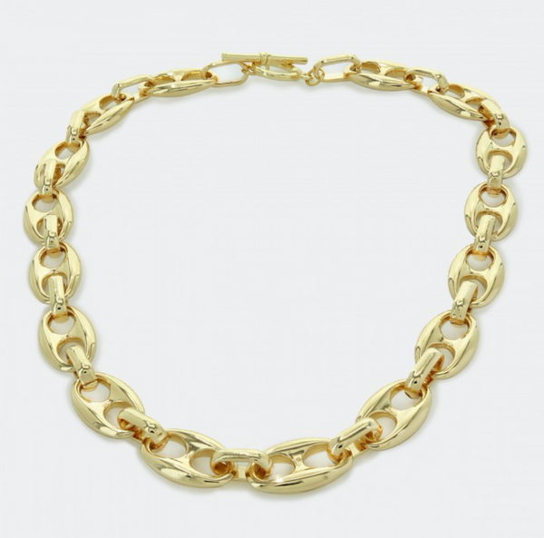 Chunky Oversized Mariner Chain Link Necklace