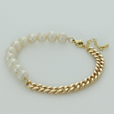Fresh Water Pearl Chain Bracelet