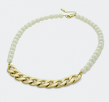 Freshwater Pearl Necklace with Curb Chain