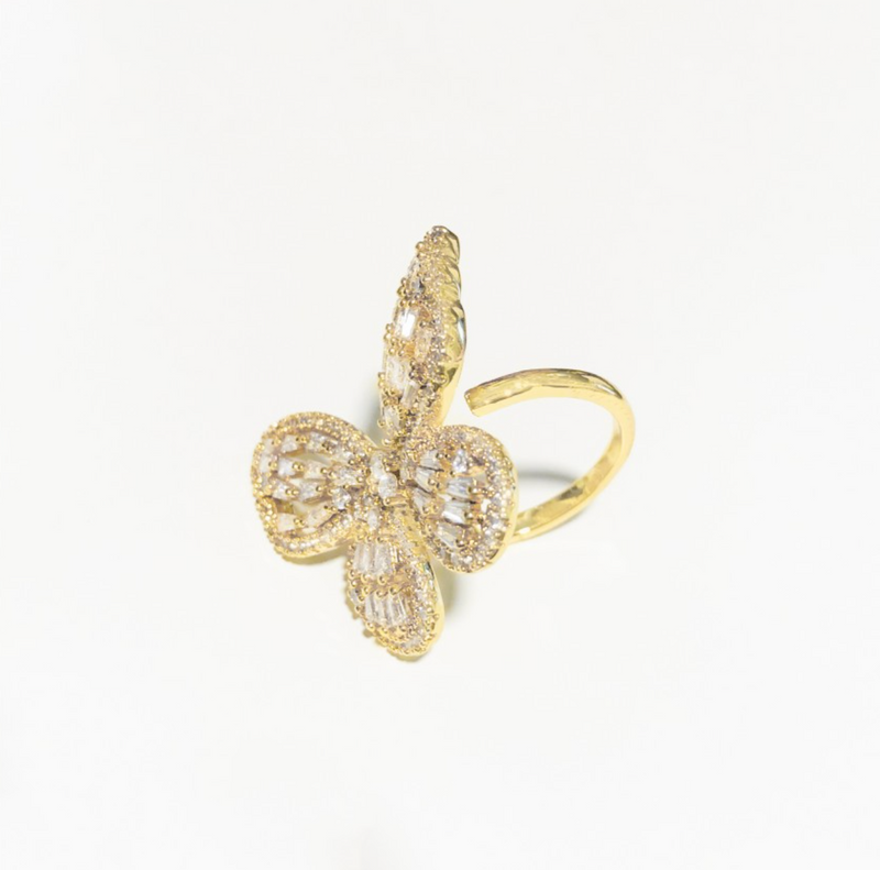 Large Cz Butterfly Ring