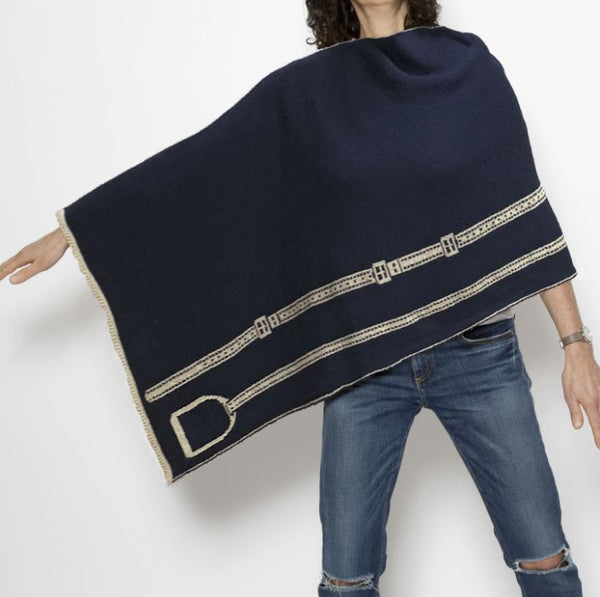 Recycled Cotton Stirrup Poncho/Sweater