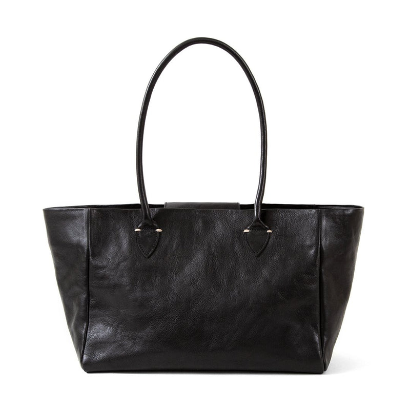 Clare V. Sylvie Leather Zip Shoulder Tote