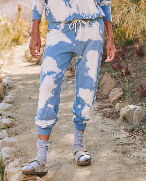 The Cloud Wash Cropped Sweatpant by The Great