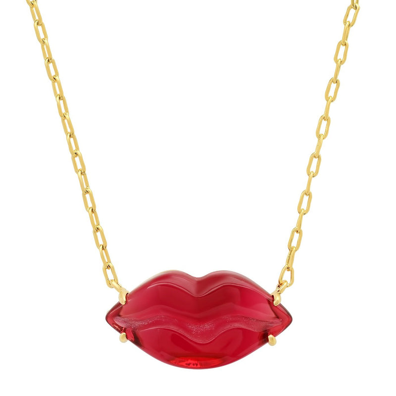 Red Lip Necklace