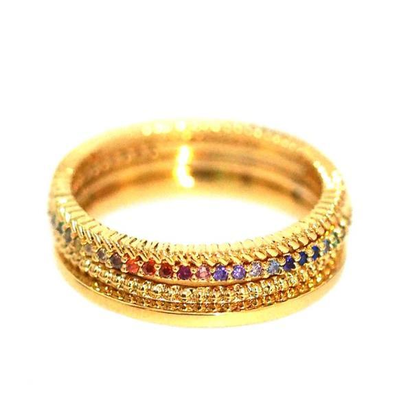 Set of 4 Rainbow Stacking Rings
