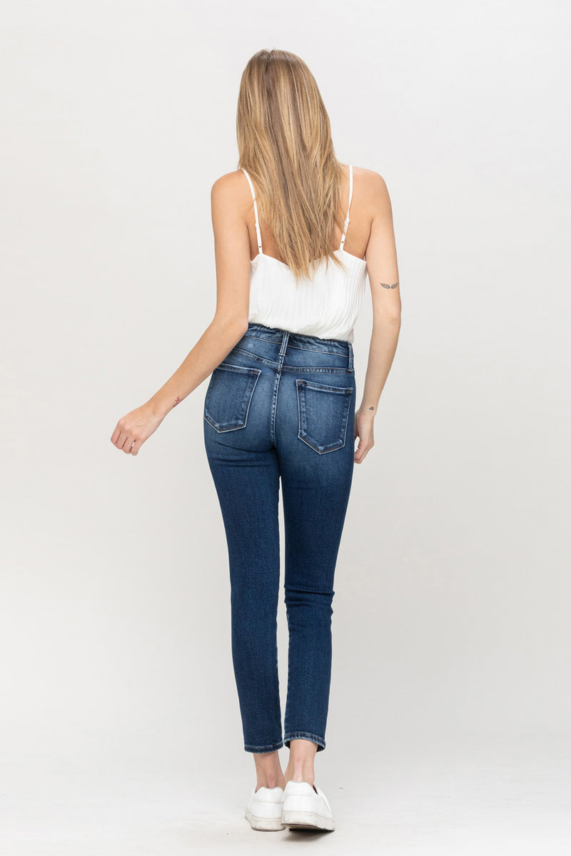 Mid Rise Ankle Skinny Jeans by Flying Monkey