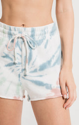 Multicolor Tie-Dye Cotton Lounge Shorts