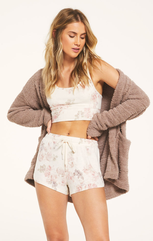 Mia Floral Knit Cozy Lounge Pajama Short by Z Supply Sale