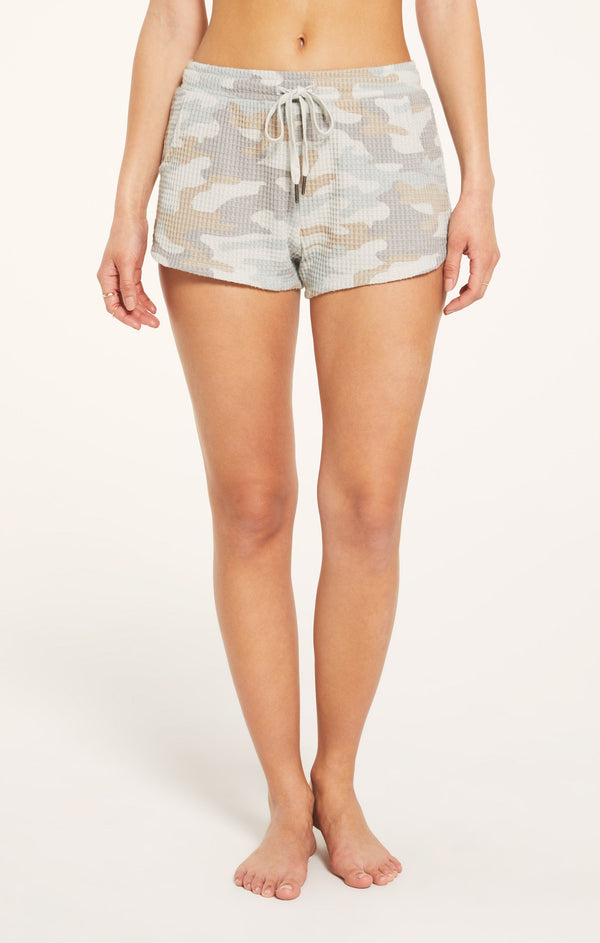 Thermal Knit Camo Lounge Shorts