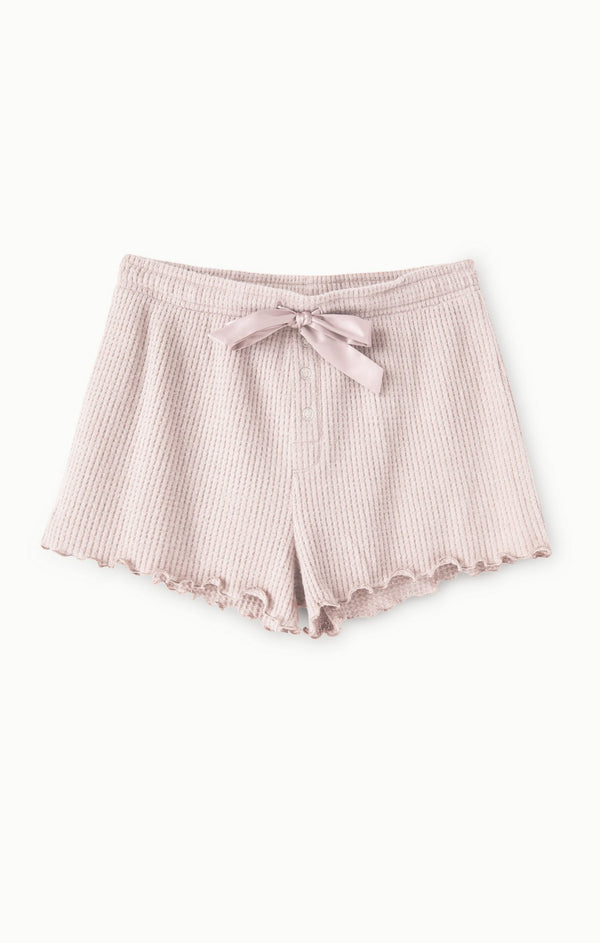 Frills Cozy Knit Thermal Pajama Lounge Shorts by Z Supply Sale