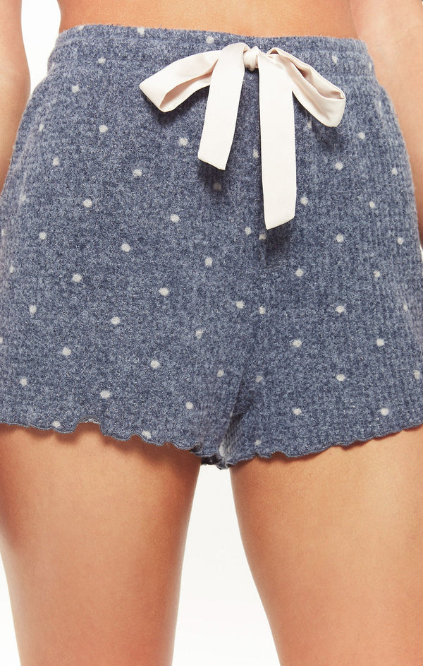 Frills Dot Knit Shorts by Z Supply