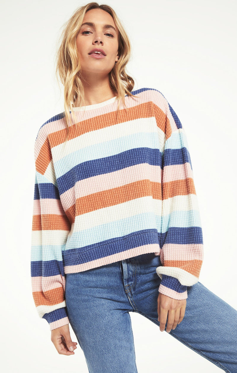 The Mercer Stripe Thermal Top by Z Supply Sale