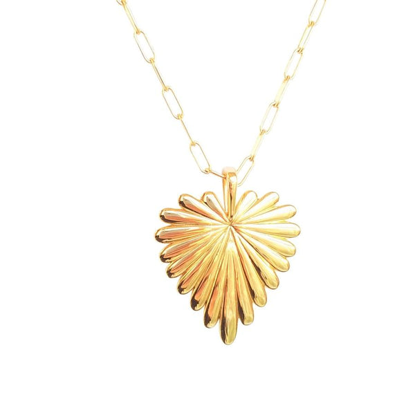 Jane Win Love Full Heart Pendant