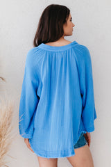 Marrakesh Double Gauze V-Neck Top by 9Seed