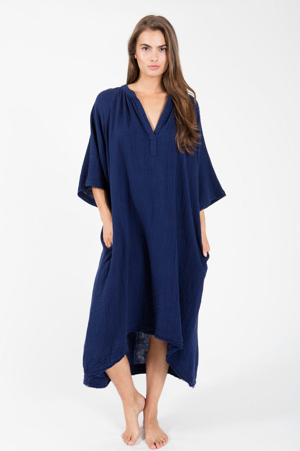 Tangier Double Gauze Long Sleeve Caftan by 9Seed