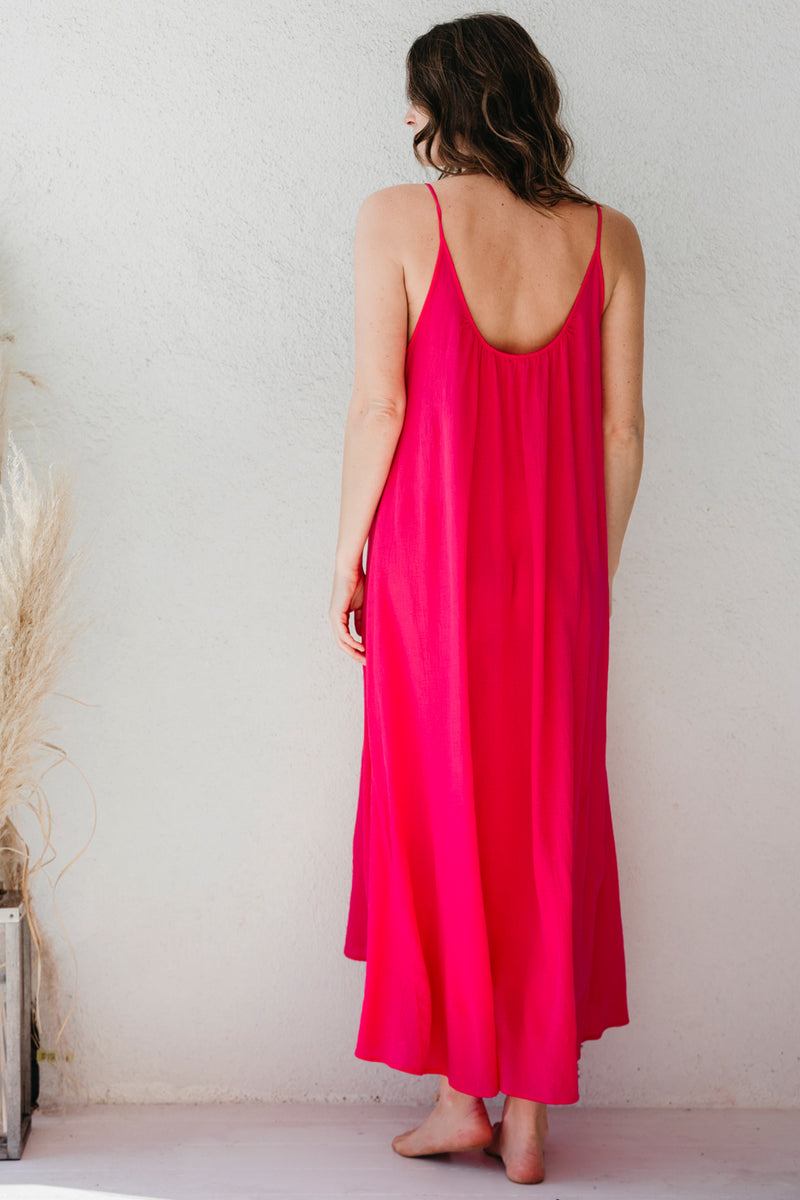 Tulum Lightweight Double Gauze Low Back Maxi Dress by 9Seed