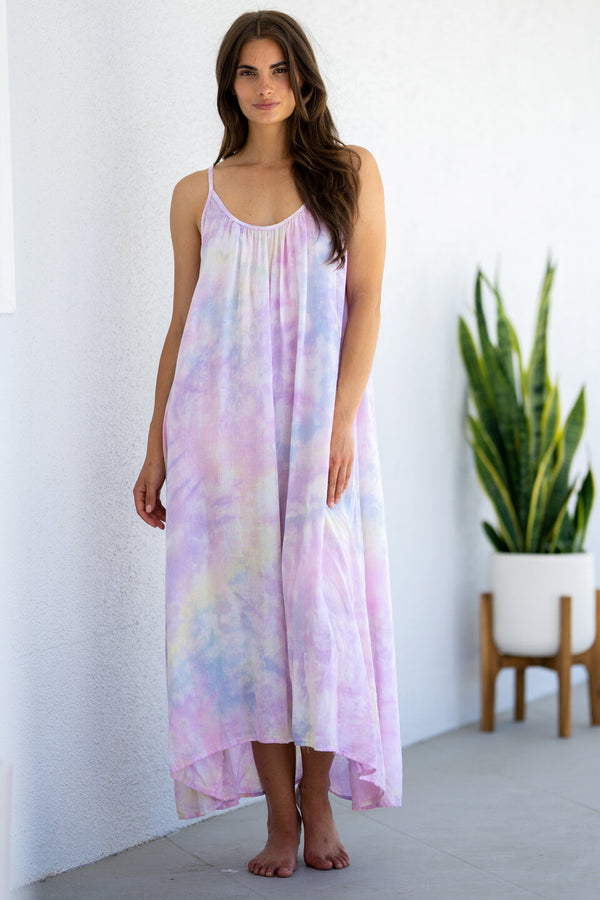 Tulum Tie Dye Gauze Cover-Up Dress by 9Seed