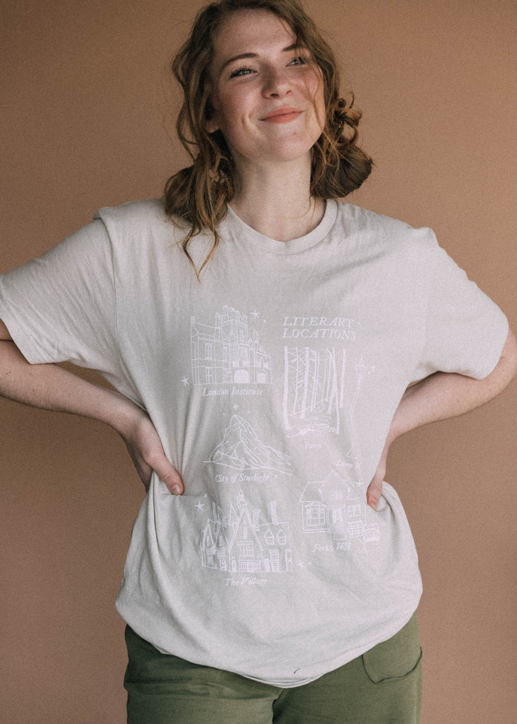 literary locations tee
