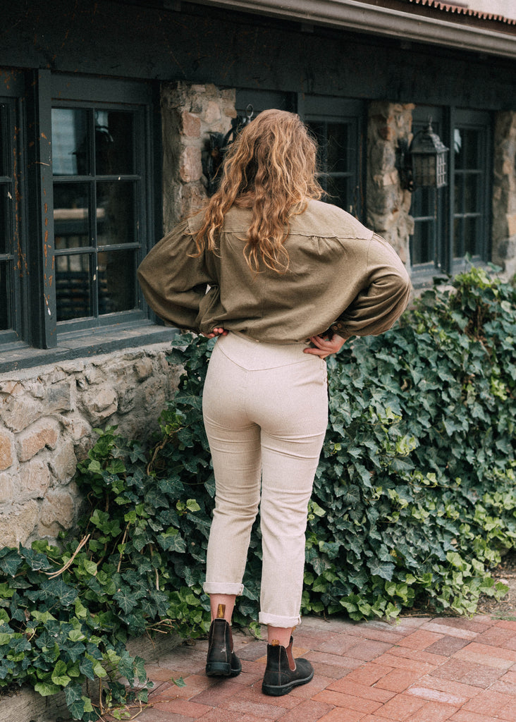 owlery pants in cream