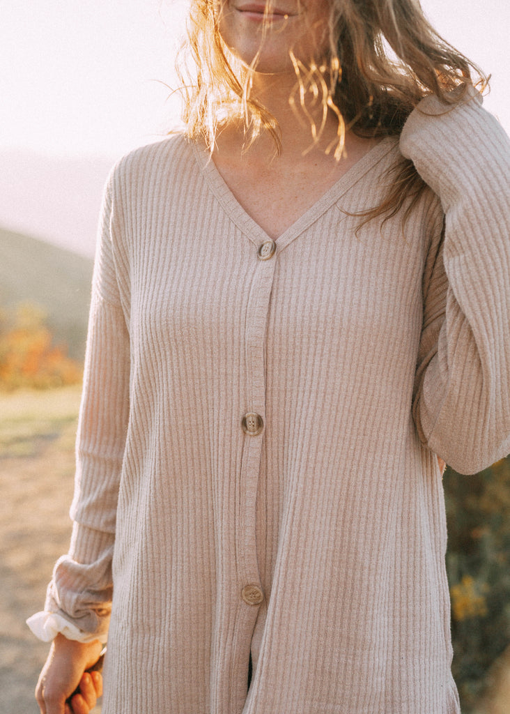 village days sweater in oatmeal