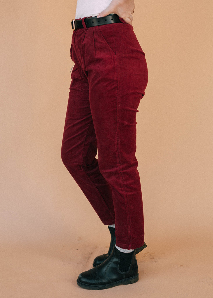 long story short pants in plum