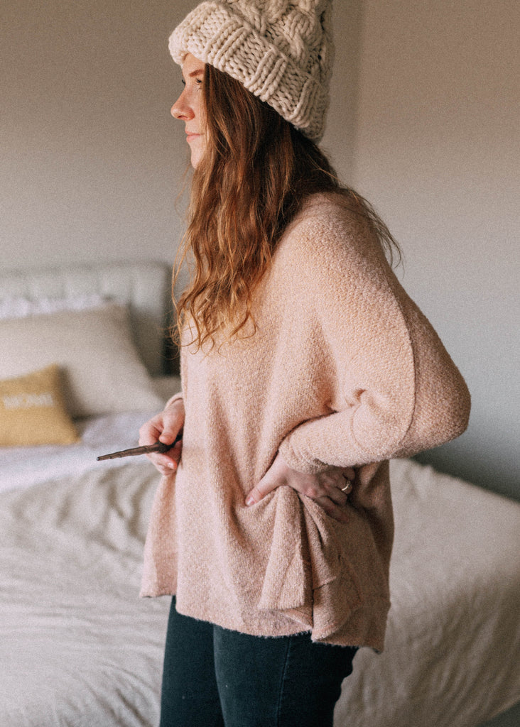 love potion sweater in peach