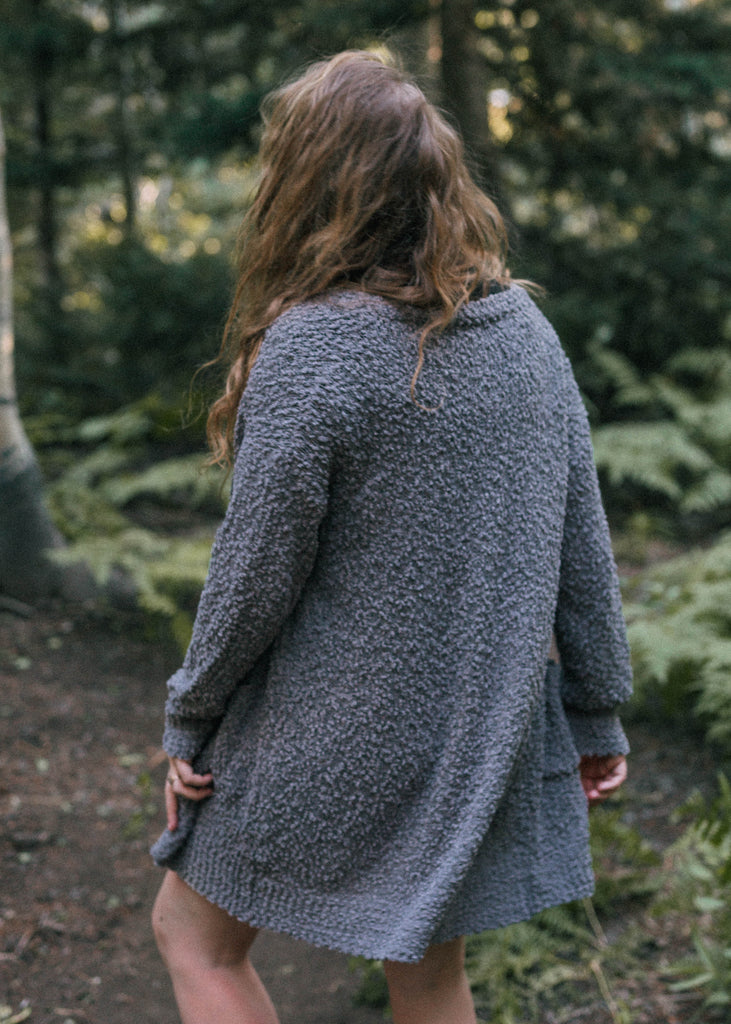 "the ""cardigan"" cardigan in gray"