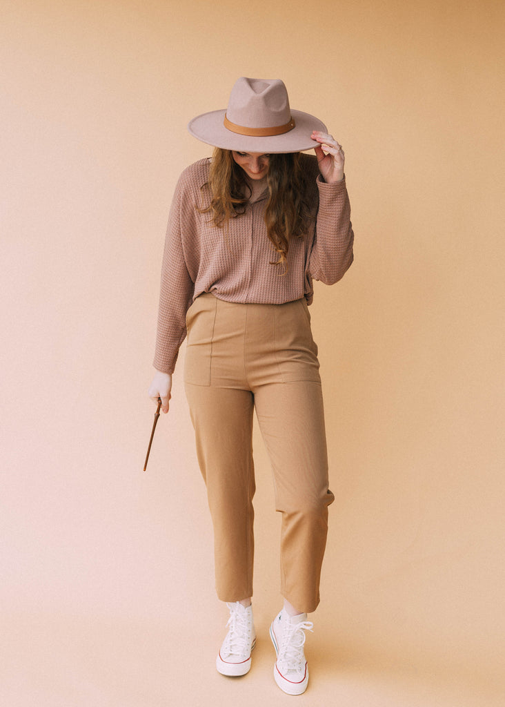 cunning but kind top in mauve