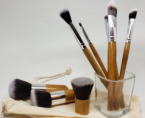 Vegan, Bamboo Makeup Brushes