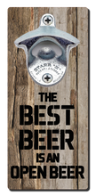 Load image into Gallery viewer, Best Beer Quote - Magnetic Bottle Opener