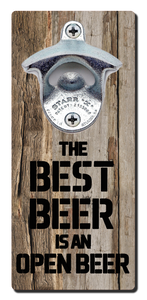 Best Beer Quote - Magnetic Bottle Opener