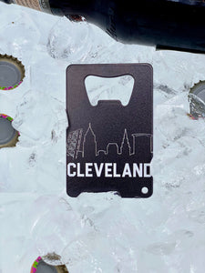 Cleveland Skyline - Wallet Bottle Opener