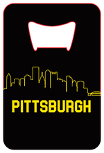 Load image into Gallery viewer, Pittsburgh Skyline - Wallet Bottle Opener