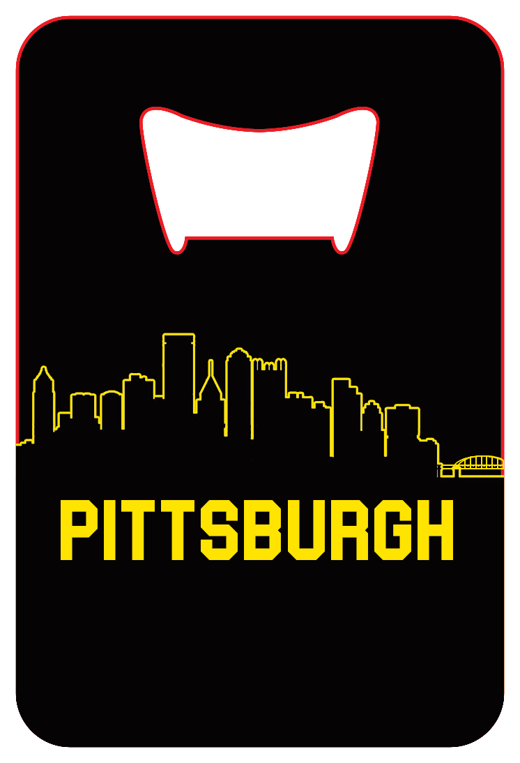 Pittsburgh Skyline - Wallet Bottle Opener