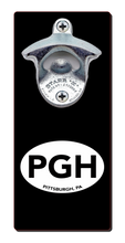 Load image into Gallery viewer, Pittsburgh PGH - Magnetic Bottle Opener