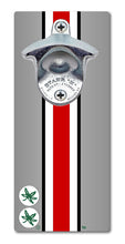 Load image into Gallery viewer, Ohio State University - Helmet Stripe - Magnetic Bottle Opener