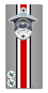 Ohio State University - Helmet Stripe - Magnetic Bottle Opener