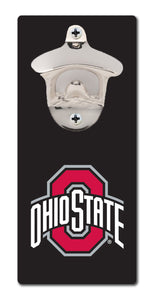 Ohio State University - Block O Black - Magnetic Bottle Opener