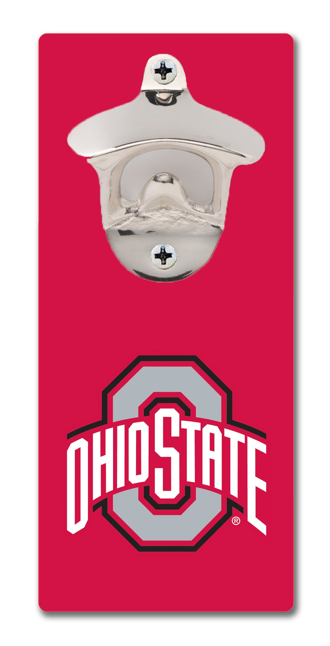 Ohio State University - Block O Scarlet - Magnetic Bottle Opener