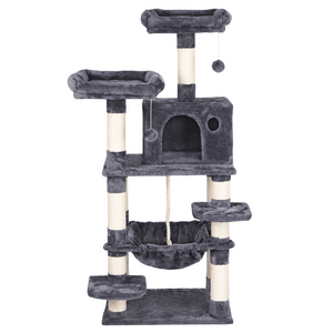 58-inch Luxurious Multi-Level Cat Tree Condo