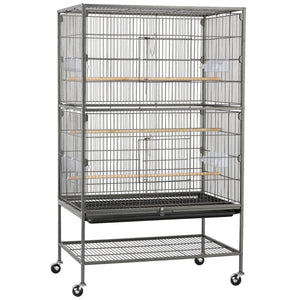 Wrought Iron Standing Large Flight Bird Cage 52-inch